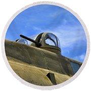 Aircraft Top Machine Gun Round Beach Towel