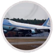 Airforce One Round Beach Towel