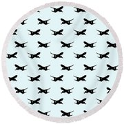 Airliner Wallpaper  Round Beach Towel
