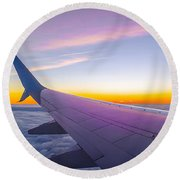 Airplane Window Round Beach Towel