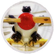 Airplane Wooden Propeller And Engine Pt 22 Recruit 02 Round Beach Towel