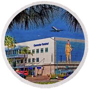 Airport Round Beach Towel