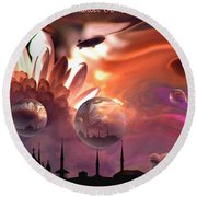 Airship Commander... Round Beach Towel