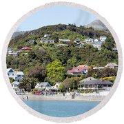 Akaroa Resort Town Round Beach Towel