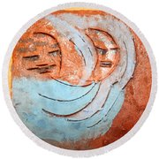 Akaweese - Tile Round Beach Towel