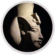 Akhenaten Round Beach Towel