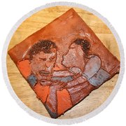 Akuweeke - Tile Round Beach Towel