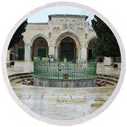 Al Aqsa Main Entrance Round Beach Towel