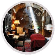 Al Capone's Cell - Eastern State Penitentiary Round Beach Towel by Bill Cannon