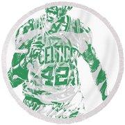 Al Horford Boston Celtics Pixel Art 7 Round Beach Towel