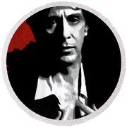 Al Pacino Round Beach Towel