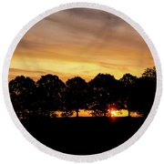 Alabama Sunrise Round Beach Towel