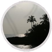 Alabaster Sunset Makena Landing Maui Hawaii Round Beach Towel