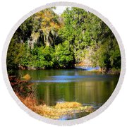 Alafia River Round Beach Towel