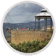 Alameda De Jose Antonio In Ronda Spain Round Beach Towel