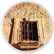 Alamo Night Window Round Beach Towel