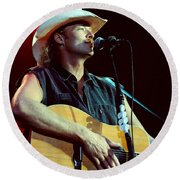 Alan Jackson-0766 Round Beach Towel