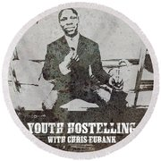 Alan Youth Hostelling Chris Eubank Round Beach Towel