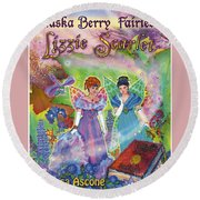 Alaska Berry Fairies Book 2 Lizzie Scarlet Round Beach Towel