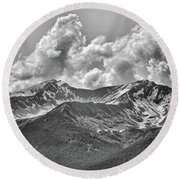 Alaska Black II Round Beach Towel