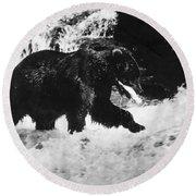 Alaska: Brown Bear Round Beach Towel