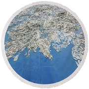 Alaska Map Wall Art Round Beach Towel
