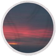 Alaska Sunset Round Beach Towel