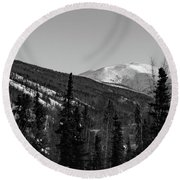 Alaska Wilderness Bw Round Beach Towel