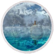 Alaskan Avalon Round Beach Towel