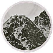 Alaskan Peaks Round Beach Towel