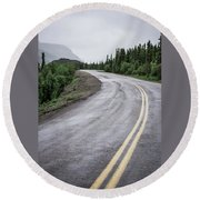 Alaskan Road Round Beach Towel