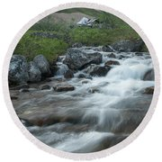 Alaskan Stream Round Beach Towel