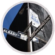 Albany And Washington Round Beach Towel