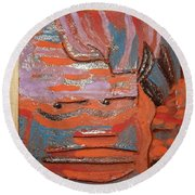 Albert And Christine - Tile Round Beach Towel