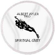 Albert Ayler Trio Round Beach Towel