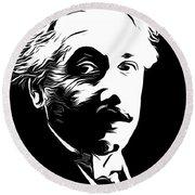Albert Einstein Round Beach Towel