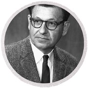 Albert Ghiorso, American Nuclear Chemist Round Beach Towel