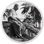 Albert Schweitzer Round Beach Towel