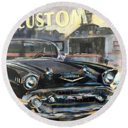 Albion Reflections Round Beach Towel