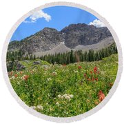 Albion Summer Flowers Round Beach Towel