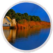 Albufera Blue. Valencia. Spain Round Beach Towel
