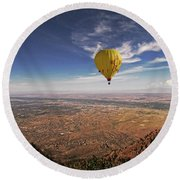 Albuquerque Flight Round Beach Towel