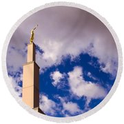 Albuquerque's Temple Round Beach Towel