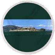Alcatraz Round Beach Towel