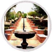 Alcazaba Fountain Round Beach Towel