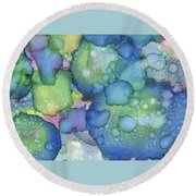 Alcohol Ink #2 Round Beach Towel