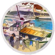 Alcoutim In Portugal 05 Bis Round Beach Towel