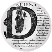 Alcuin Revision Round Beach Towel