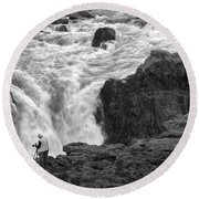 Aldeyjarfoss Waterfall Iceland 3381 Round Beach Towel