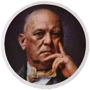 Aleister Crowley, Infamous Occultist Round Beach Towel
